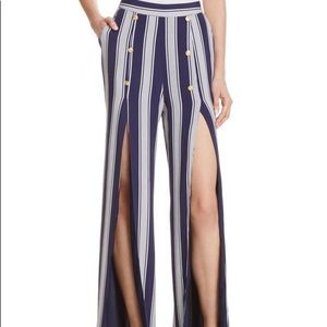 Lovers + Friends Striped Slit Pants